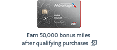 Citi / AAdvantage credit card. Opens another site in a new window that may not meet accessibility guidelines.